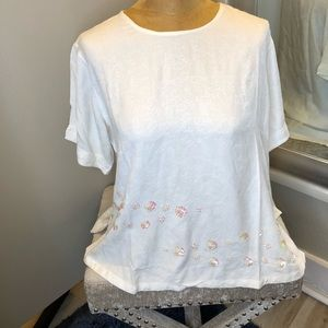 Boho Chic Sequin Top One Size NWT Beautiful Ivory